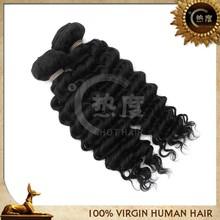 Fashionable virgin eurasian deep wave hair extension remy soft human hair