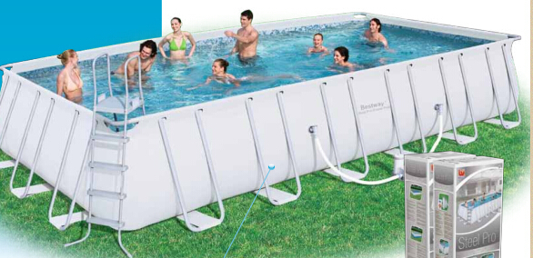 intex]rectangular Metal Frame Inflatable Swimming Pool - Buy ...