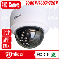 High resolution Camera 3.6mm Lens Mini Plastic Dome 720P AHD Camera with 24pcs IR LEDS support 20M IR distance