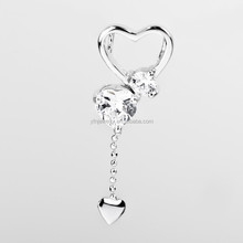Customized Wholesale heart logo silver charm/925 sterling silver pendant for Necklace