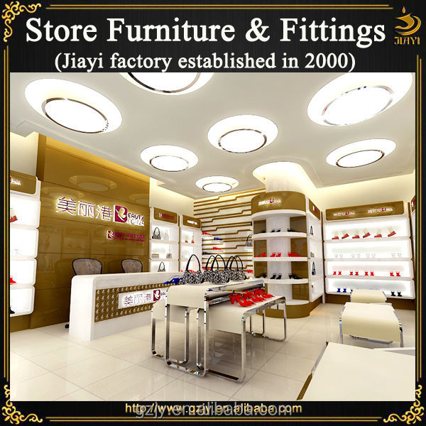 Modern factory made wood shoes retail furniture for shoes for Retail furniture