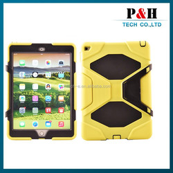 High quality 2 in 1 shockproof case for ipad air 2 pc silicone