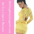 venta al por mayor nueva de encaje amarillo vestidos de novia 2014