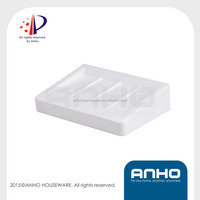 ANHO Patent plastic soap dish, white soap holder, wall mounted soap box