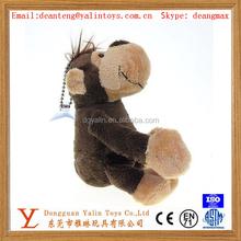 OEM Custom Cute Mini Classical Monkey Stuffed Animal shaped Plush Keychain