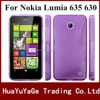 Free shipping phone cases TPU cover S line Case For Nokia Lumia 635 630