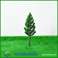 40mm minature sand table in building models plastic green tree
