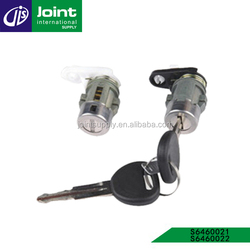 Car front door lock set left and right with key for Daewoo Lanos S6460021 S6460022
