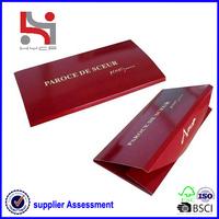Dongguan factory Haiying new design custom paper hard envelope