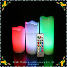 Flameless led candle with 18 keys remote control function
