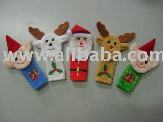 Fantoche de dedo Mini Plush natal fantoche de dedo