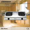 High Quality Stainless Steel Panel Gas Stove 2 Cooker Burners 2-03SRB