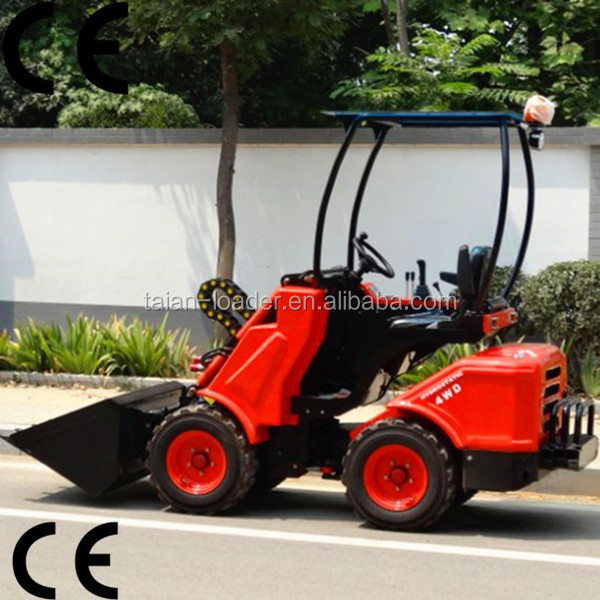 Small Garden Lawn Mower Tractor Dy620 Mini Front Loader