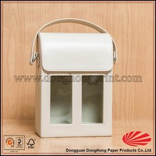 High quality wine carrier box with clear window