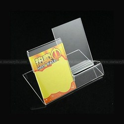 Acrylic Cellphone Dispay Stands, Transparent Mobile Phone with information stand, Plexiglass smartphone with sign holder
