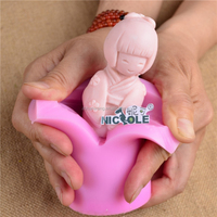 Baby Girl Doll Shape 3D Candle Mold