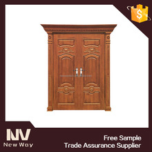 30 inch oversized rustic double leaf exterior entry wood door design