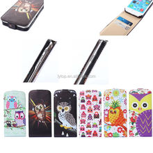 Cute nightingale design flip leather cell phone cover for iPhone 6