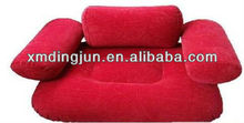 RED Flocked PVC Inflatable Sofa,red inflatable air sofa chair,inflatable sofa chair