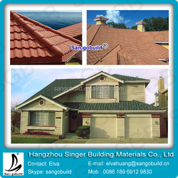 Hot Sale in Africa !!! Decorative and Durable Stone Coated Metal Roofing Tile Milan Tile