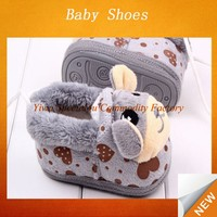 Stock kids shoes winter warmly plush shoes baby boys kids animal shoes SFBS-0082