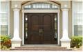 Puerta de Entrada de Madera de Doble Hoja Rústica, Pareja de Puerta de Entrada de Madera