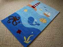 Kids cartoon polyester rug and carpet for long life