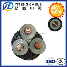 26/35kv single core 3 core xlpe insulated pvc sheathed high voltage power cable for sale