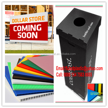 Collapsible corrugated plastic cardboard recycling bins