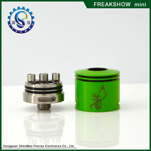 Popular Stainless Steel Mini freakshow rda Atomizer with 510 thread Gift package Box Many Colors in Stock