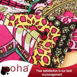 2016 SOHA rayon reactive print rayon fabric factories for punjabi dress neck designs