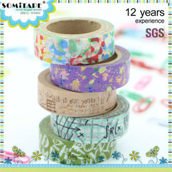 Waterproof Printed Tape/Custom Printed Tape for Kids and Class Stationery