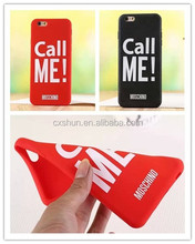 Call Me Mos-chino Soft Silicon Mobile Phone Cover Case For iPhone 5/5S/6/6 Plus