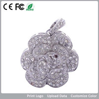 Flower shape usb jewellery with keychain