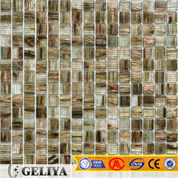promotion item brown glass mosaic tile ST03(80sqm), price can be discuss