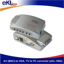 La cáscara del metal, av( bnc) a vga, a tv convertidor de la pc hecha en china