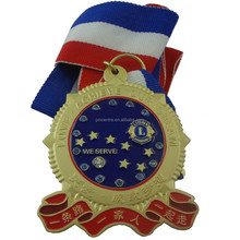 China factory sell custom logo blank sport medal gold/silver/bronze color with lanyard