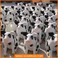 l590mm Fiberglass Cute Cow Doll