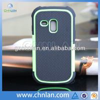 Top quality football design hybrid hard pc silicone cover for samsung galaxy s iii 3 mini i8190 case