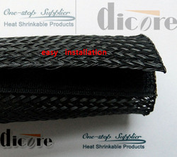 PET expandable / over expanded braided PET sleeves /PET expandable tubing
