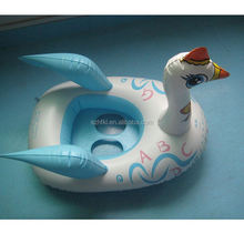 inflatable swan ride-on pool toys with wings,kids swan ride-on boat