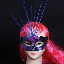 New style Silver feather head pieces masquerade masks