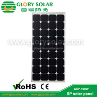 tent and yacht/RV roof use monocrystalline solar panel 100W