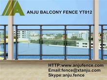 Modern home outdoor/indoor glass railing balcony & stairway design