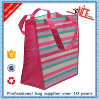 colorful laminated pp non woven grocery shopping tote bag