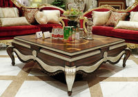 New design wooden square shape living room central table