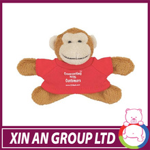 Small comfortable animal educational plush monkey for kids