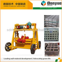 egg layer concrete block making machine QT40-3B portable bricks making machines with wheels