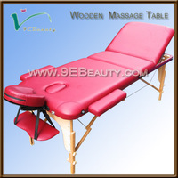 3 section Portable wooden Massage bed&camillas para masajes