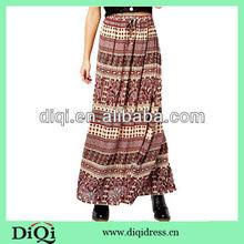 las mujeres faldas largas